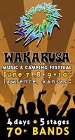 Wakarusa Music Festival, Lawrence, KS